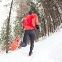 Winter trail running