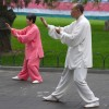 Tai Chi Public Exercising in Temple of heaven park, Beijing