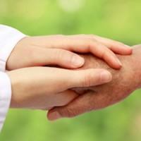Women hand helping senior patient